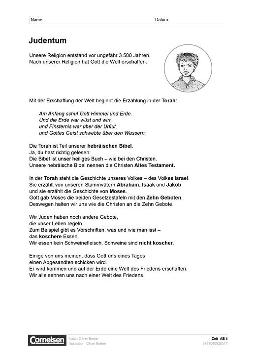 Zeit: Judentum - Arbeitsblatt | Cornelsen