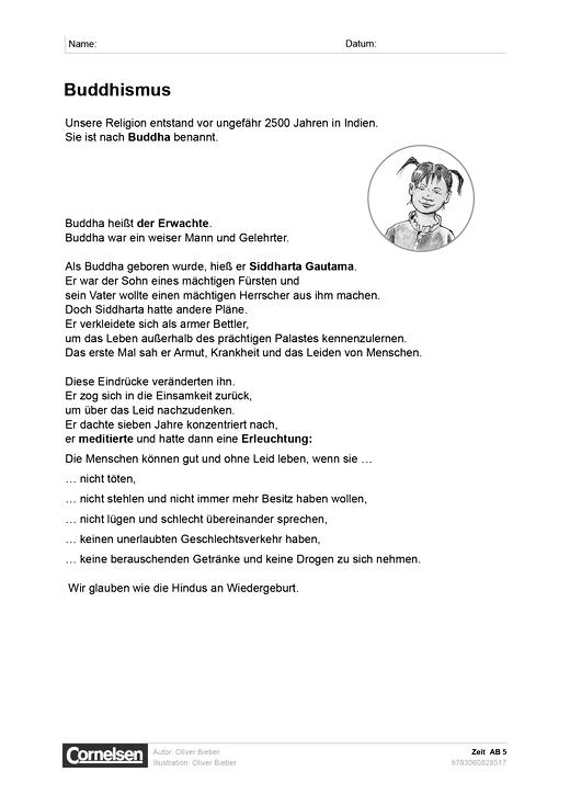 Zeit: Buddhismus - Arbeitsblatt | Cornelsen
