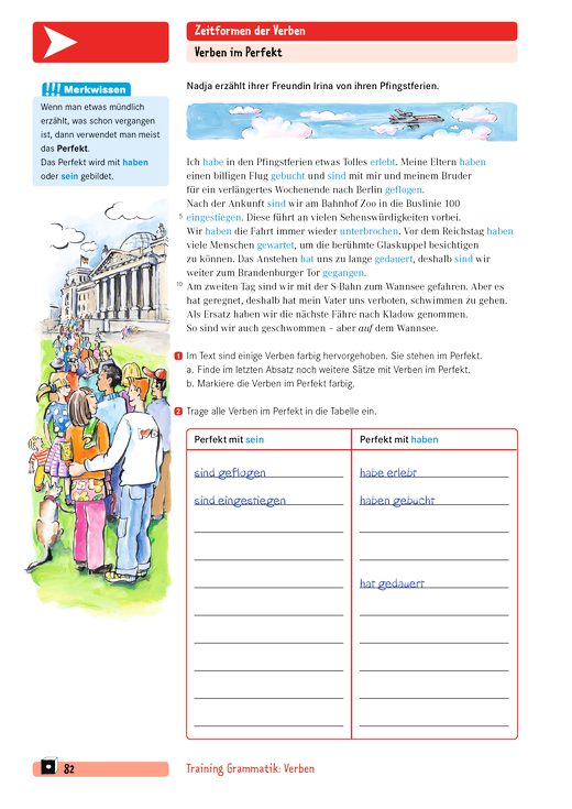 Training Grammatik - Zeitformen der Verben - Arbeitsblatt | Cornelsen