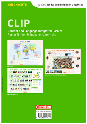 World Map / History of the European Union / Life in a Medieval Town : Posterpack : Bestehend aus 3 verschiedenen Postern