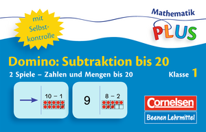 Subtraktion bis 20 : Domino : 32 Karten in Kunststoffbox