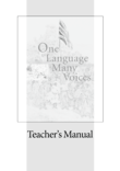 One Language, Many Voices : Teacher's Manual mit Klausurvorschlägen
