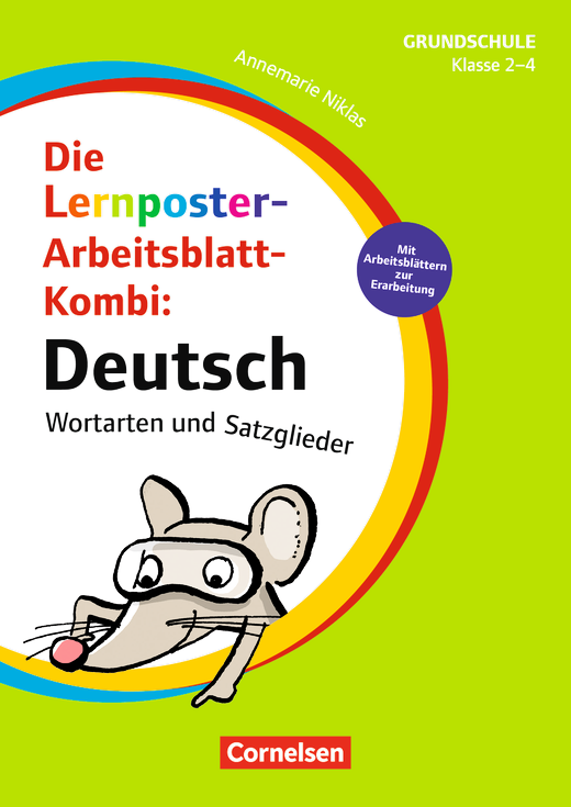 Lernposter für die Grundschule - Deutsch - Wortarten und Satzglieder ...