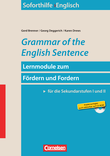 Grammar of the English Sentence : Buch und Kopiervorlagen mit CD-ROM